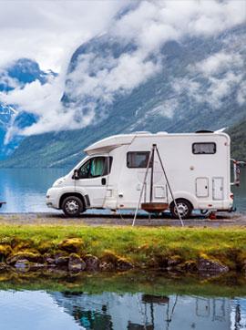 trip in a camping-car